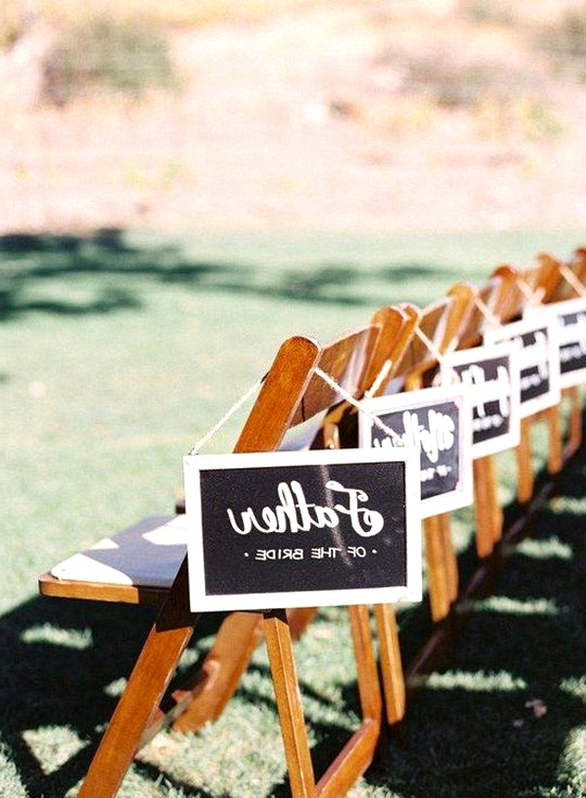 reserved seats wedding signs for ceremony