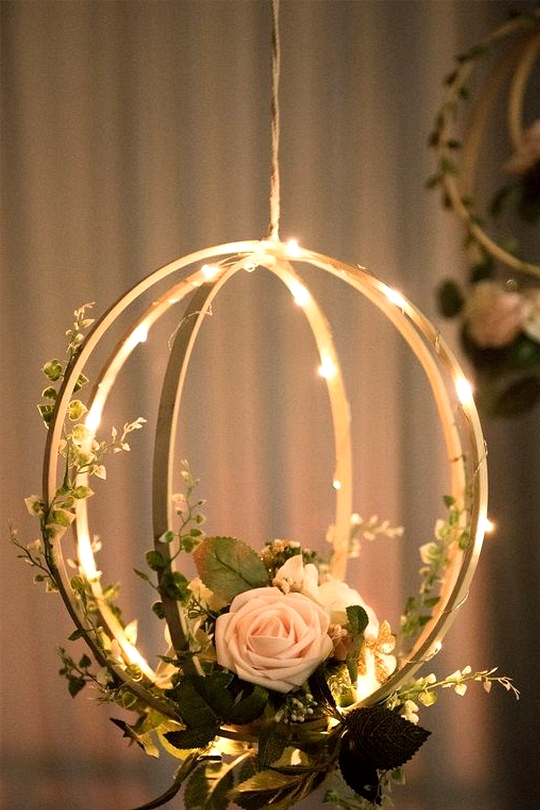 diy hanging wedding decoration ideas