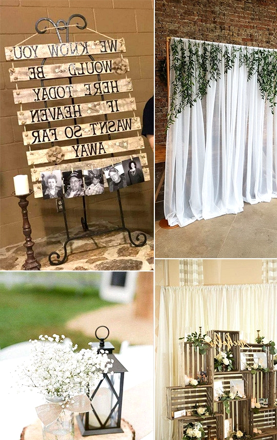 budget friendly DIY country wedding decoration ideas