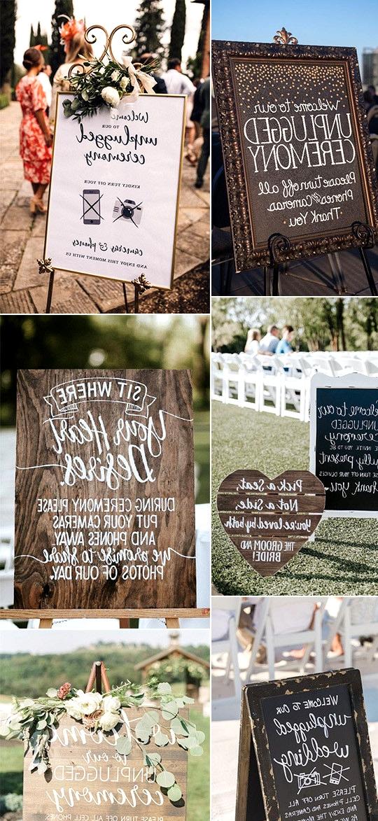 unplugged wedding ceremony sign ideas