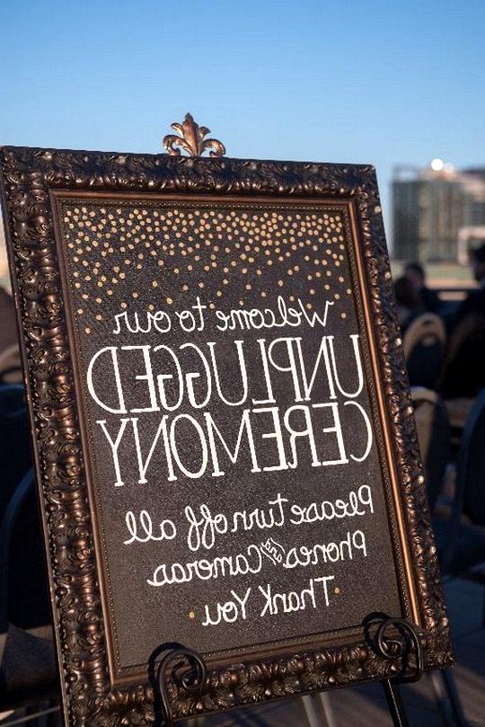 vintage framed unplugged wedding sign