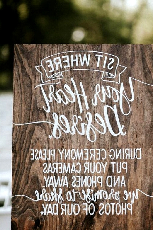 rustic unplugged wedding sign