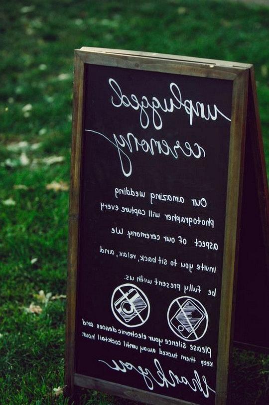 outdoor chalkboard wedding sign ideas