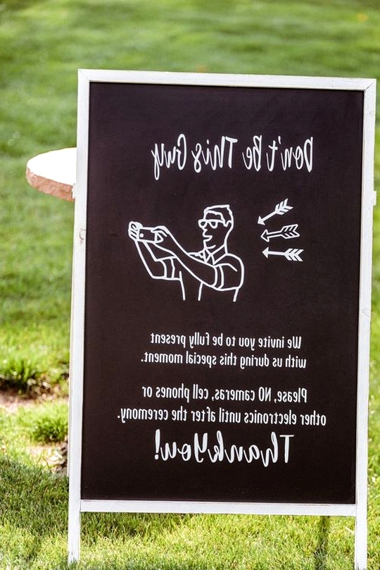 funny unplugged wedding ceremony sign