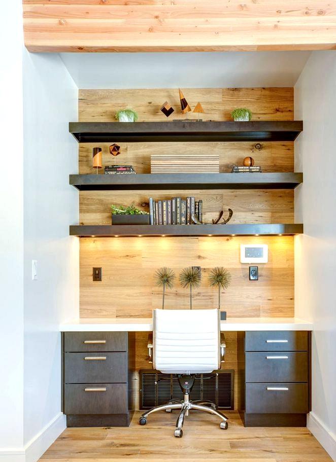small home office corner
