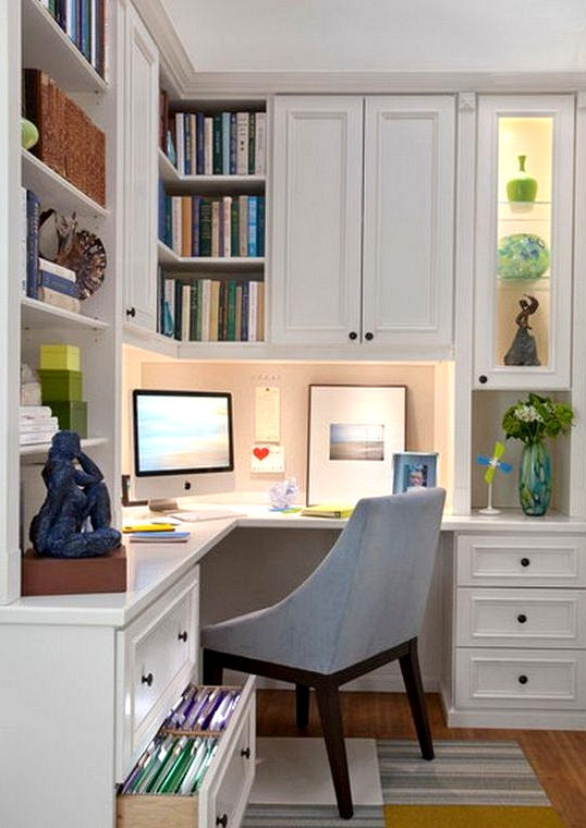 inexpensive small home office ideas
