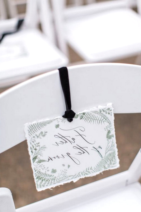simple reserved wedding seating sign