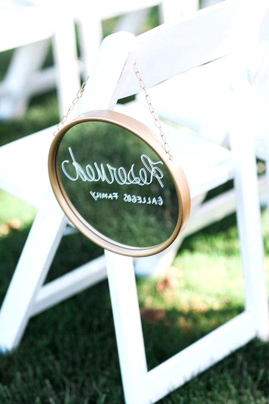 vintage reserved wedding sign for outdoor ceremony