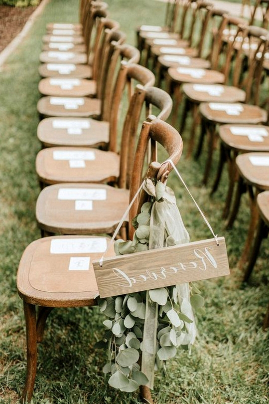 boho chic reserved wedding seating sign ideas