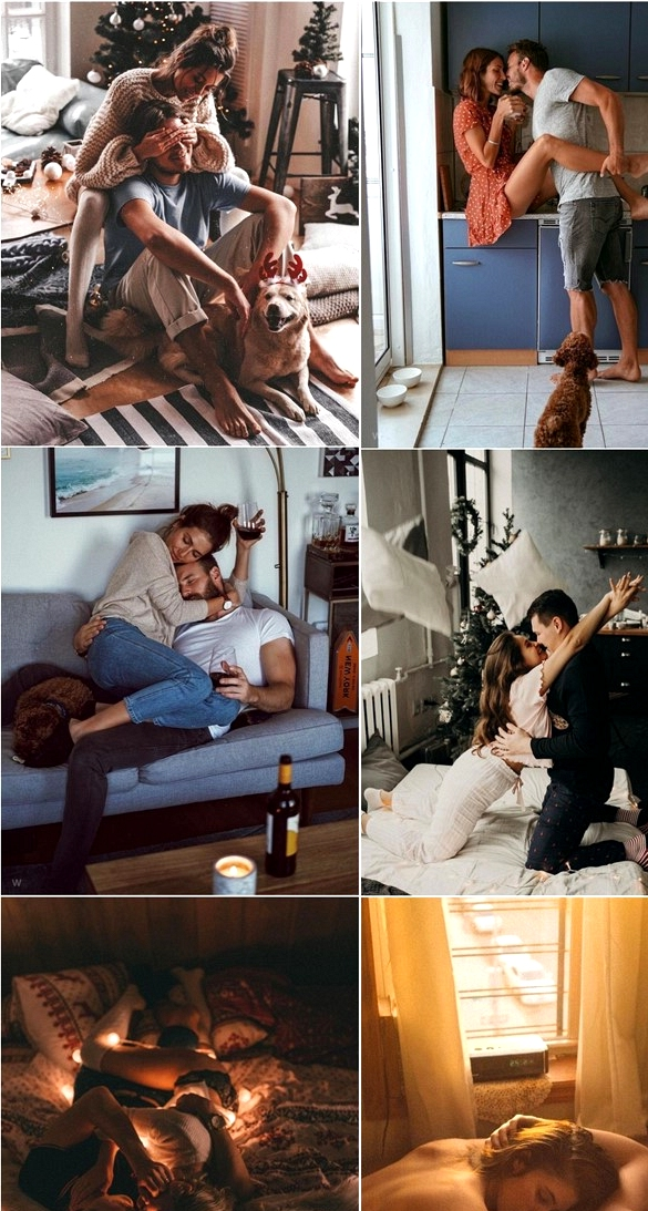 At-Home Engagement Photo Ideas #photos #photopose #boudoir #photography