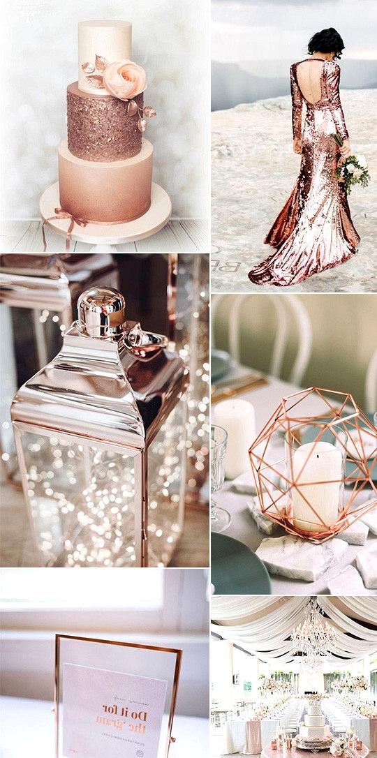modern chic rose gold wedding ideas