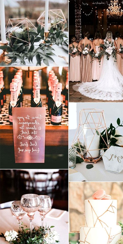 trending rose gold wedding ideas for 2020