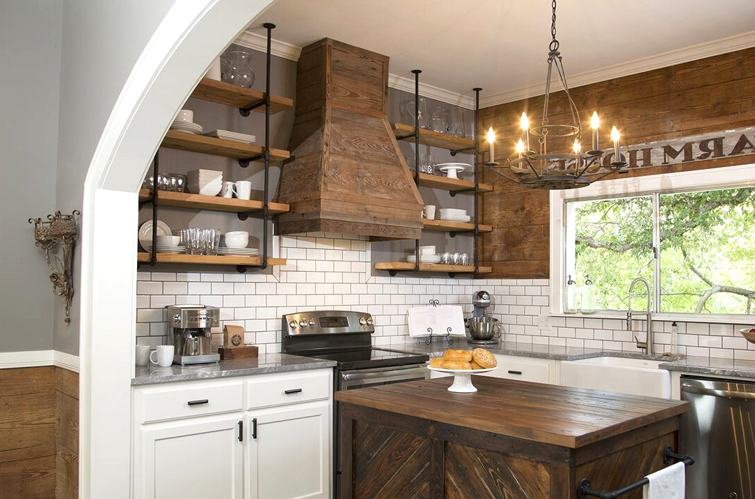 farmhouse kitchen cabinets and countertops
