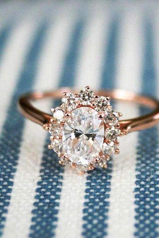 stunning vintage rose gold diamond engagement ring