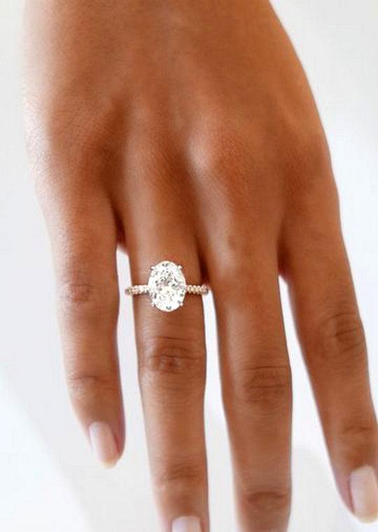 modern rose gold wedding engagement ring