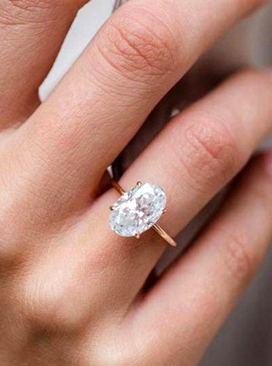 simple rose gold wedding engagement rings