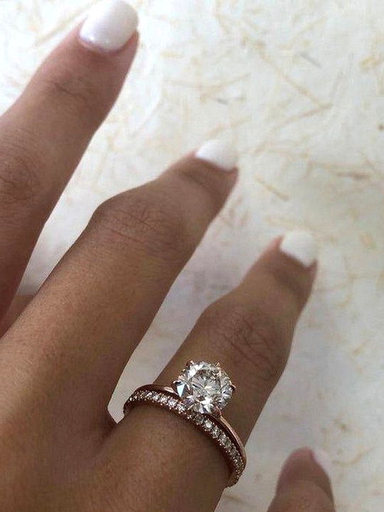 classic rose gold wedding engagement rings