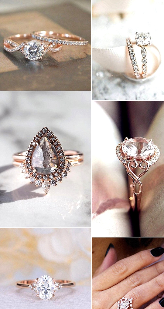 gorgeous rose gold engagement rings