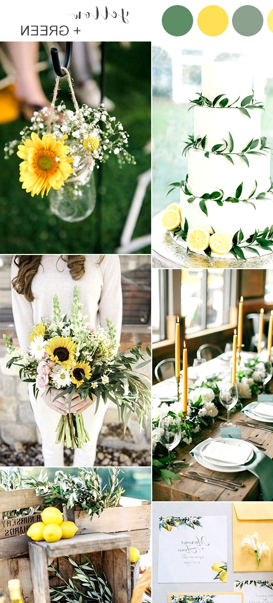 yellow and green summer wedding color ideas 2020