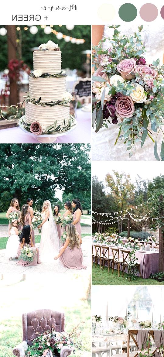 mauve and green wedding color ideas 2020