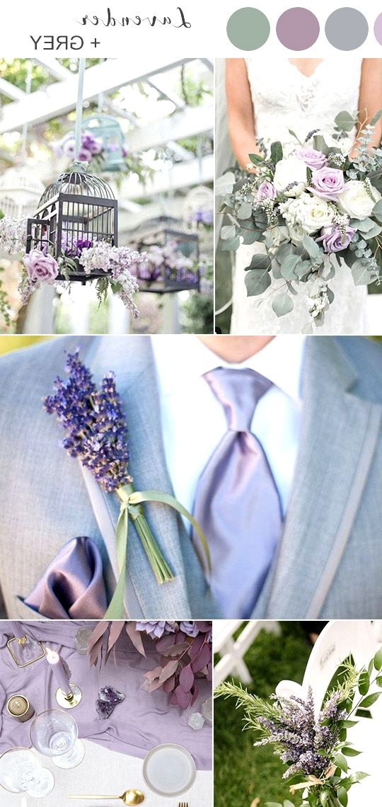 lavender and grey spring wedding colors 2020