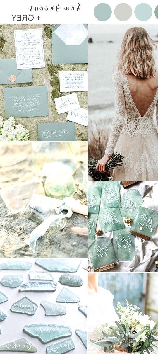 shades of green beach wedding color ideas