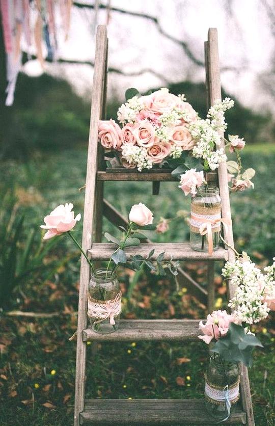 chic vintage outdoor wedding decoration ideas