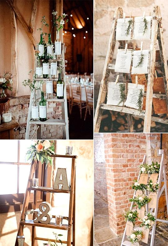vintage wedding seating plan decoration ideas