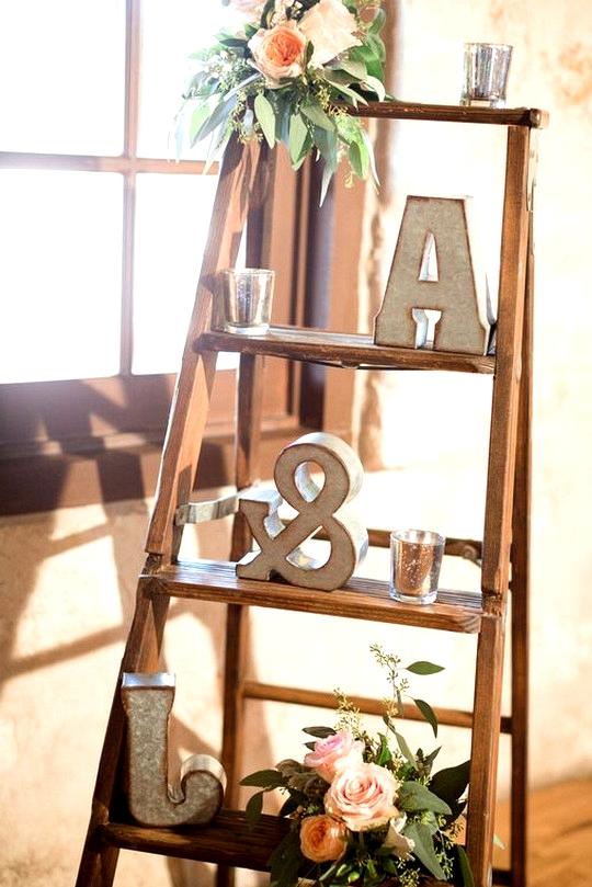 chic vintage ladder inspired wedding decoration ideas