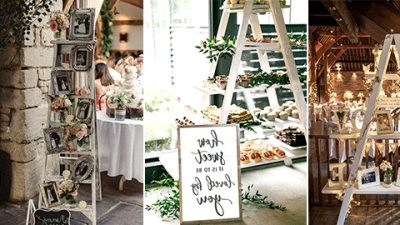 20 Classic Rustic Wedding ceremony Ornament Concepts with Ladders