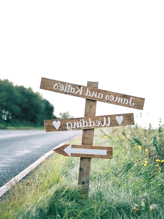 DIY country wedding sign ideas