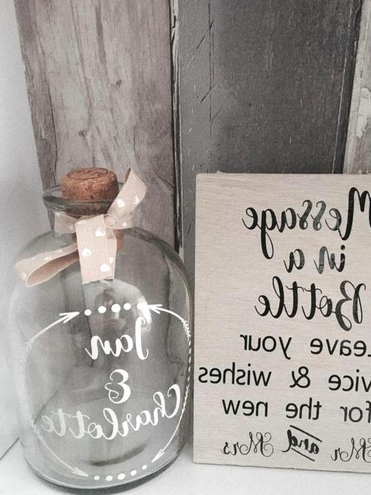 budget friendly DIY wedding ideas message in a bottle