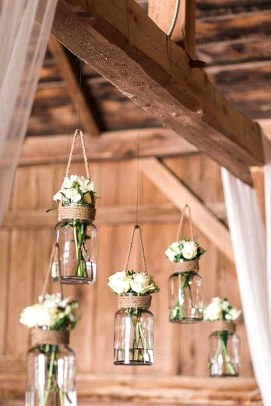 DIY mason jars wedding decoration ideas