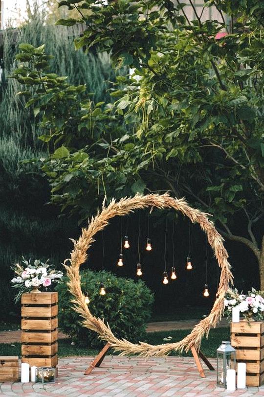 backyard DIY wedding arch ideas