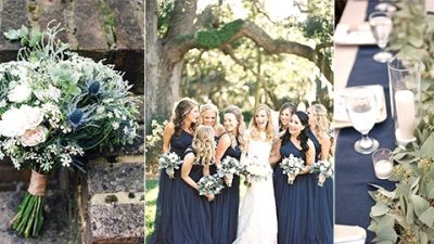 Trending-30 Navy Blue and Greenery Wedding ceremony Concepts for 2020