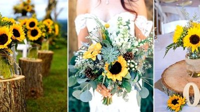 35 Fairly and Vivid Sunflower Wedding ceremony Concepts