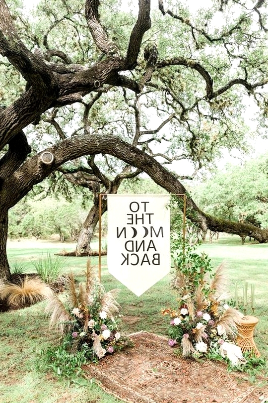 bohemian wedding ceremony decoration ideas