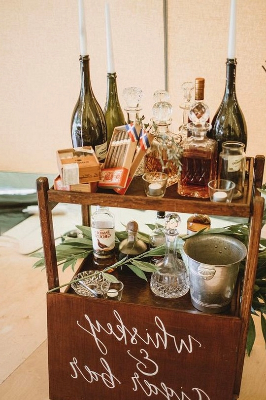 bohemian wedding drink bar ideas