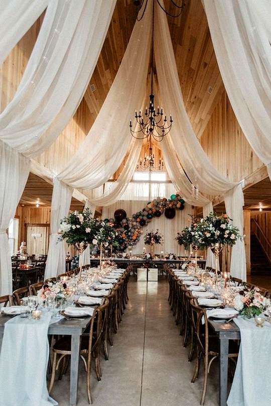boho chic barn wedding reception decorations