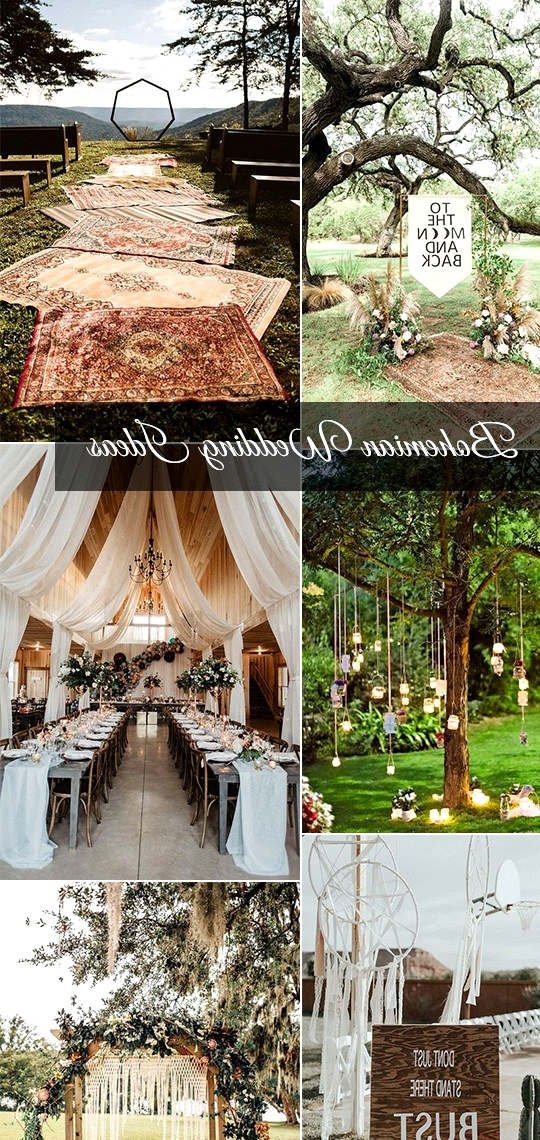 boho chic wedding decoration ideas