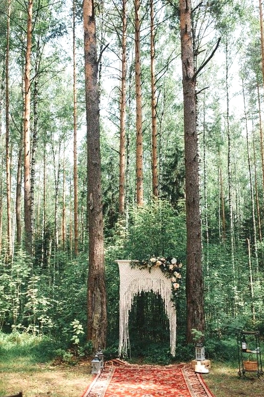 forest boho wedding ceremony ideas
