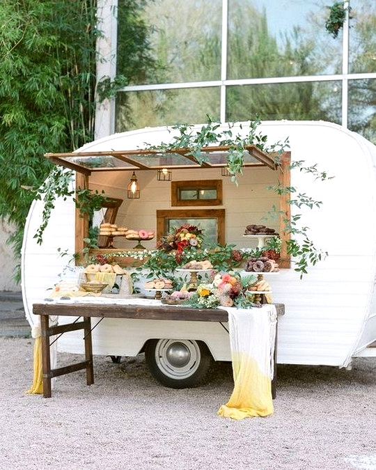 boho chic wedding food station ideas