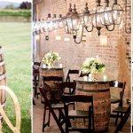 wine barrels country wedding ideas