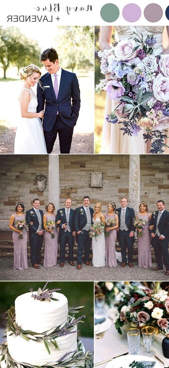 navy blue and lavender wedding color ideas