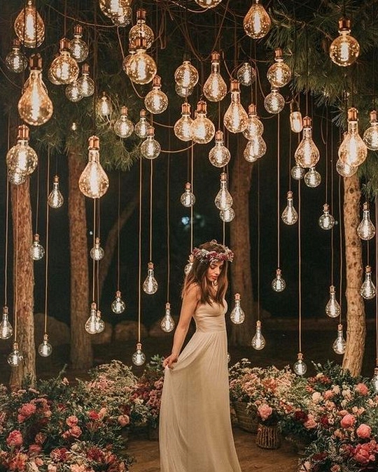 whimsical wedding photo ideas with lights