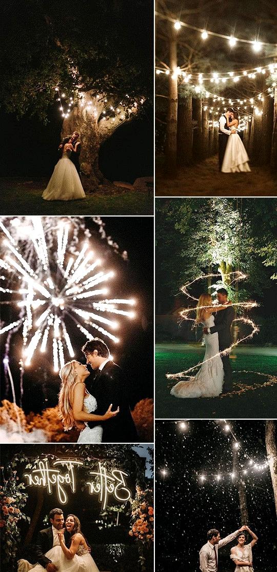 romantic night wedding photos for 2020