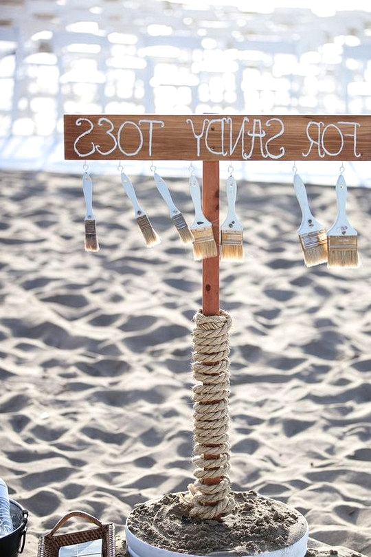 creative wedding sign for beach wedding ideas