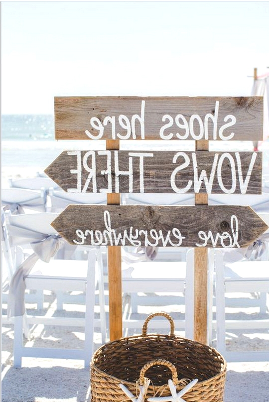 beach wedding sign decoration ideas