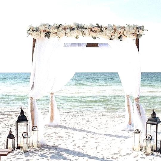 beach wedding alter ideas with lanterns