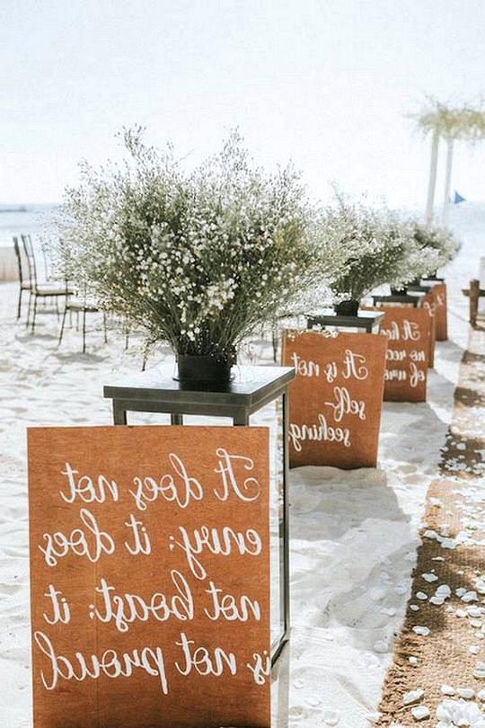 beach wedding aisle decoration ideas